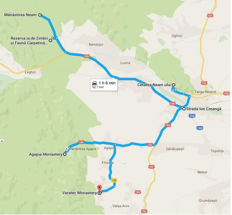Harta Tg Neamt Calatorii De Weekend