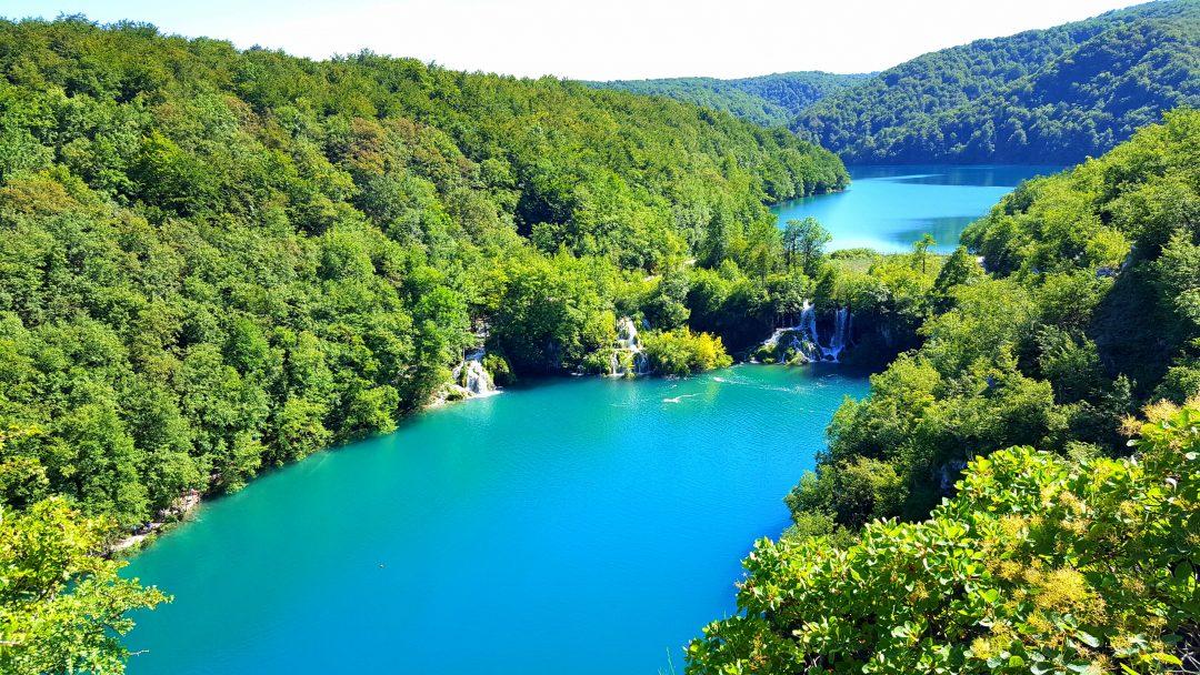 lacurile plitvice vazute de sus