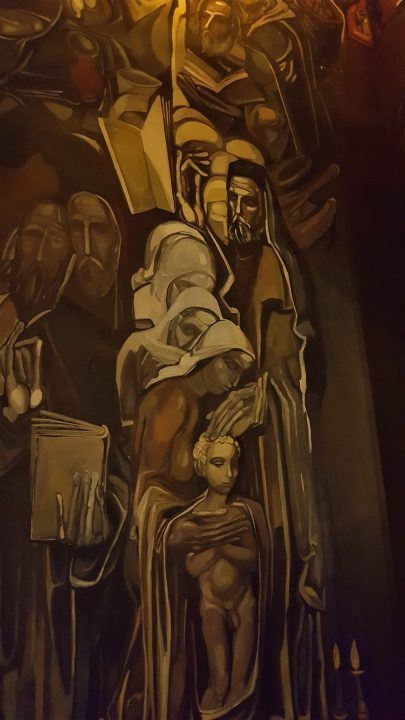 icoana de pe pereții din biserica din veliko tarnovo