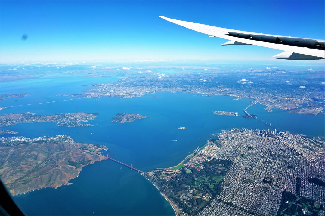 San Francisco vazut din avion